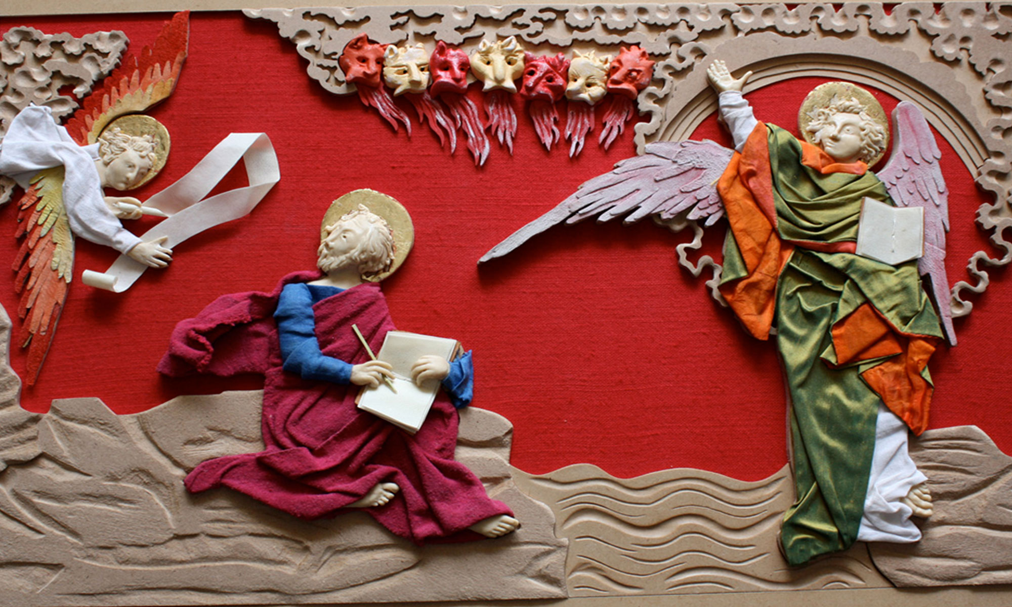"""Mallette tactile """"l'art de la tapisserie"""" des châteaux musées nationaux de France, L'Apocalypse de Saint Jean"""