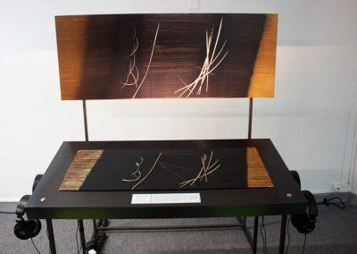 Reproduction tactile du tableau « T 1962 » de Hans Hartung, Composition sonore de Luc Martinez