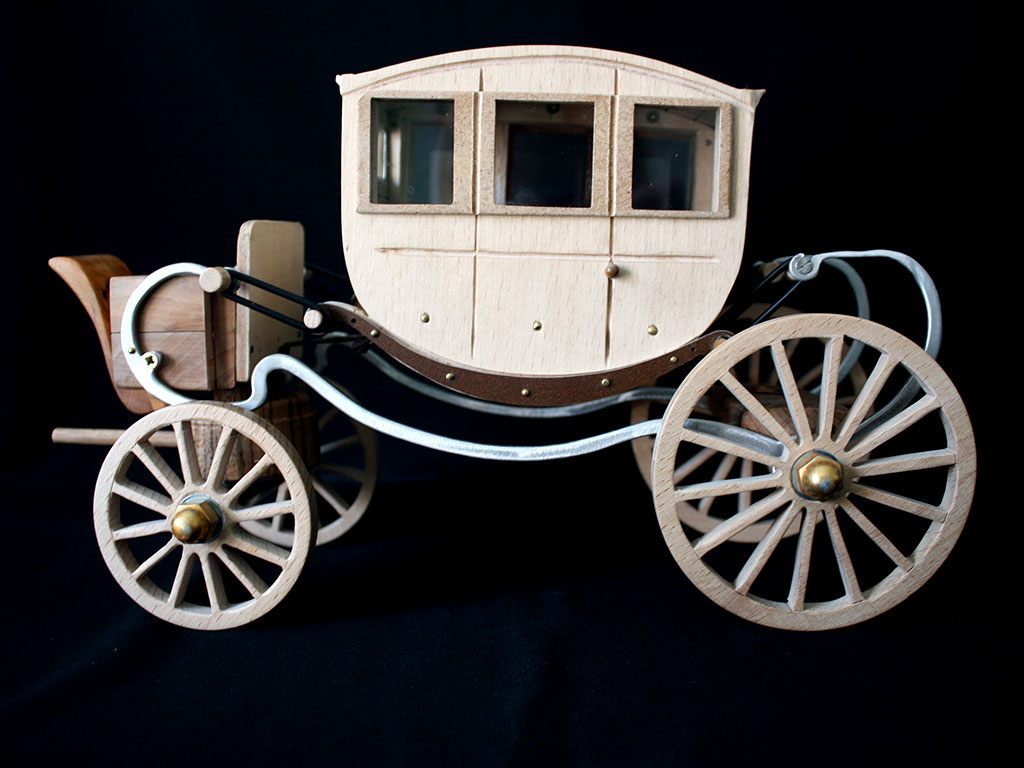 Maquette tactile du carrosse de Louis XIII