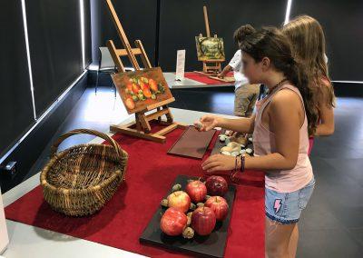 Jeu tactile pour recomposer le tableau, Pommes et amandes