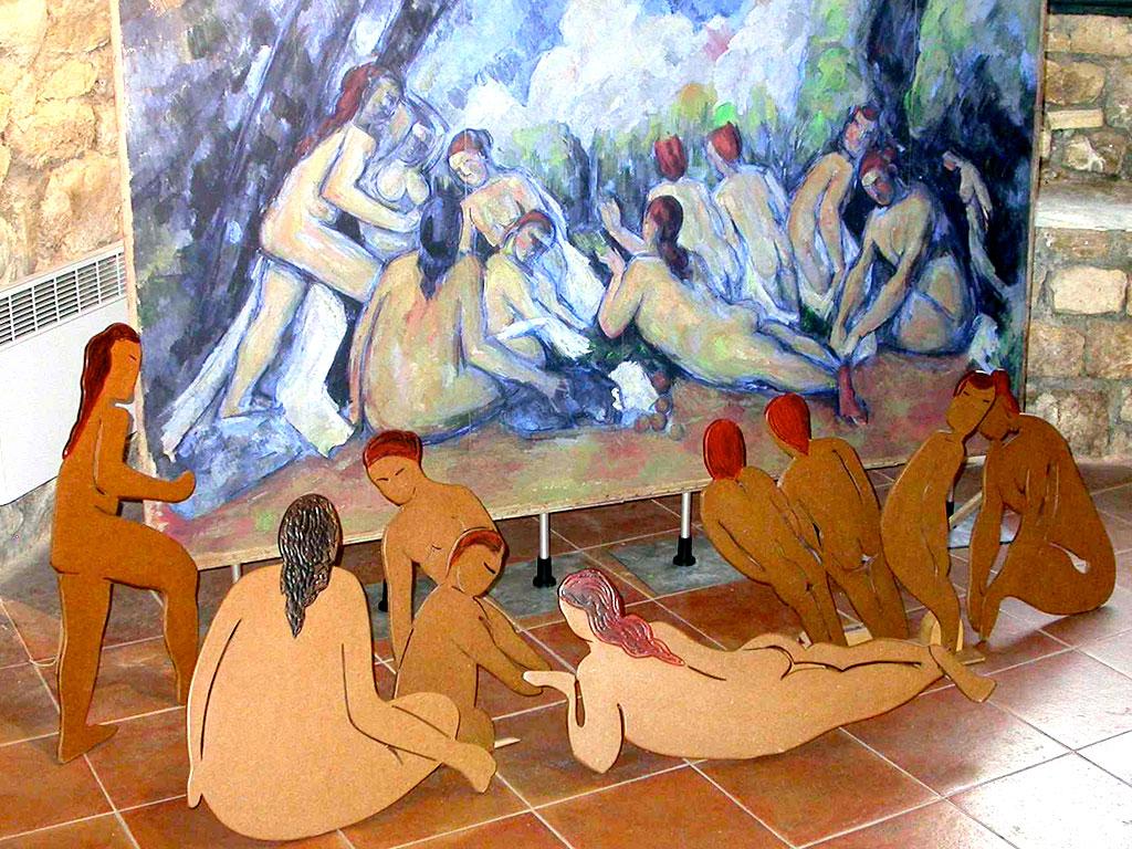 Reproduction et Jeux tactile, les baigneuses de Cézanne
