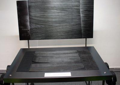 Reproduction tactile du tableau « PEINTURE - 14 AOÛT 1979 » de Pierre Soulages, Composition sonore de Emtao