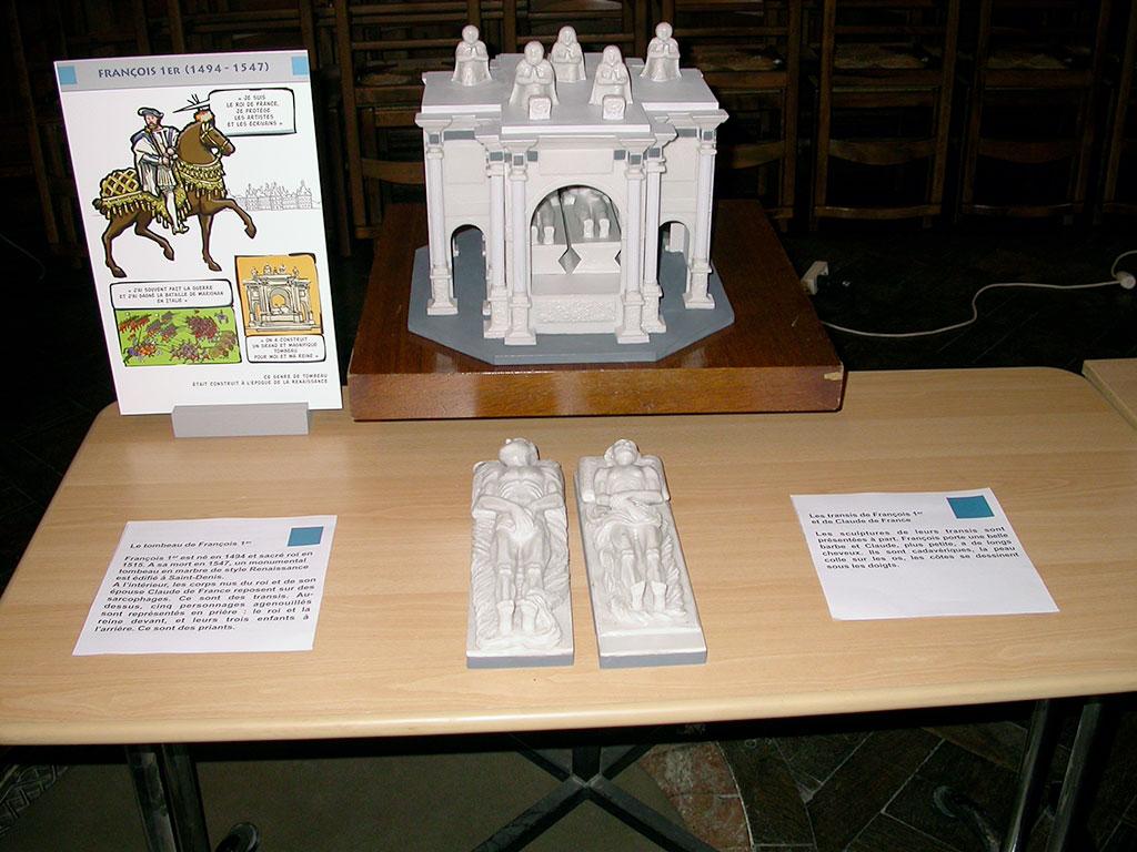 Basilique Cathédral de Saint-Denis, conception multi-sensorielle, tombeau de François 1er et Claude de France