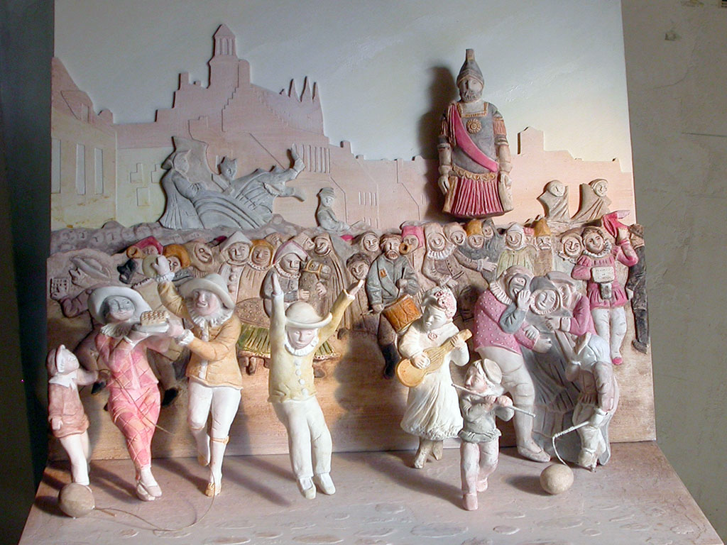 Transposition tactile de l'œuvre de Alexis Bafcop, Carnaval de Cassel